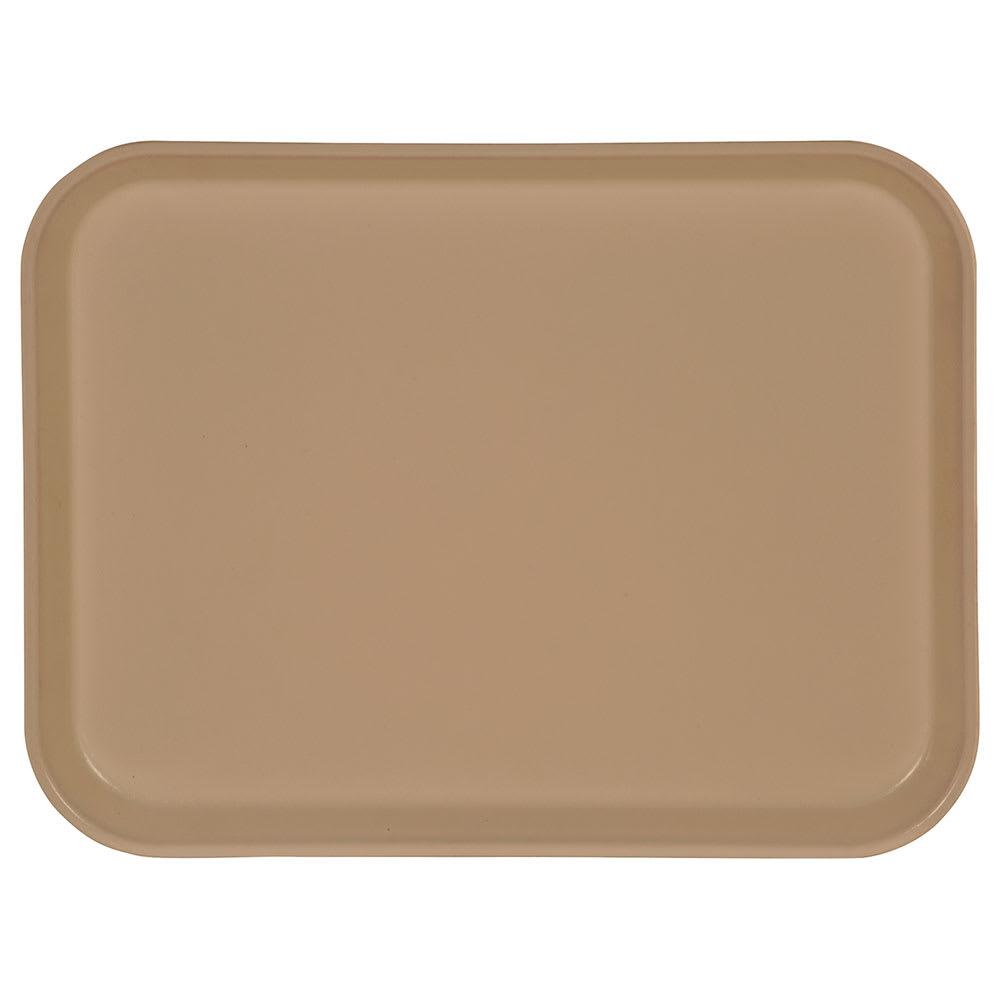 "Carlisle 1410FG025 Rectangular Cafeteria Tray - 13-3/4x10-5/8"" Beige"
