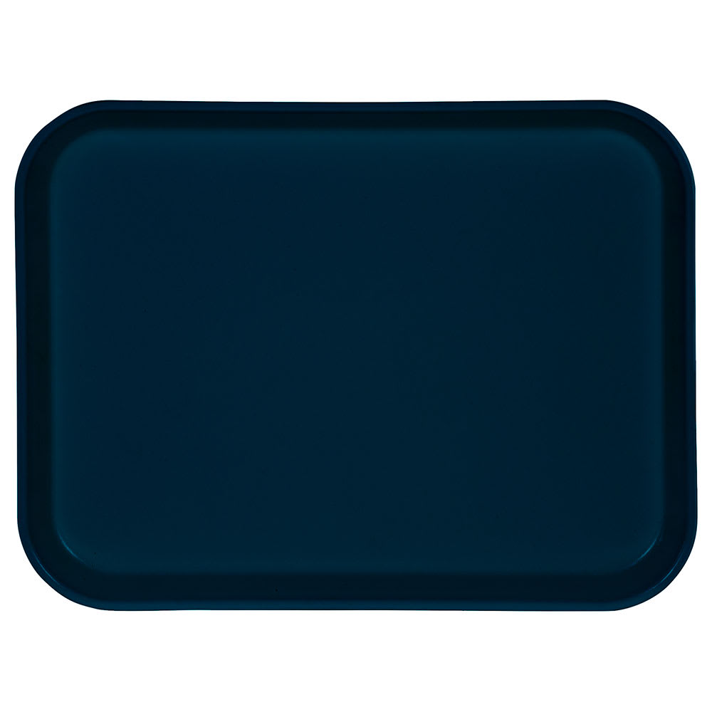 "Carlisle 1410FG050 Rectangular Cafeteria Tray - 13 3/4x10 5/8"" Sapphire Blue"