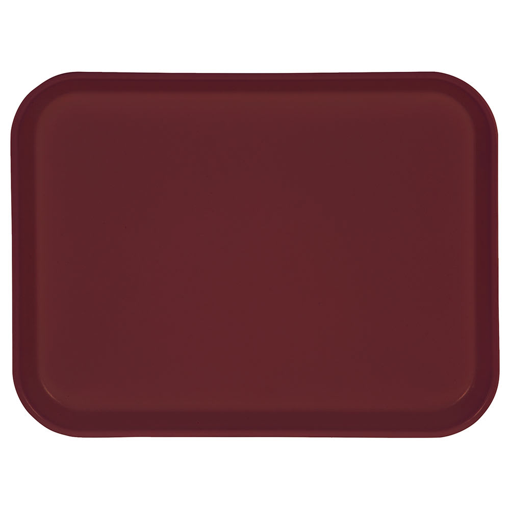 "Carlisle 1410FG054 Rectangular Cafeteria Tray - 13-3/4x10-5/8"" Mulberry"