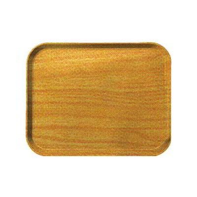 "Carlisle 1410WFG065 Rectangular Cafeteria Tray - 13-3/4x10-5/8"" Light Oak Woodgrain"