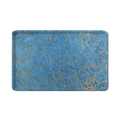 "Carlisle 1418LDFG029 Rectangular Cafeteria Tray - Low-Edge, 18x14"" Starfire Blue"