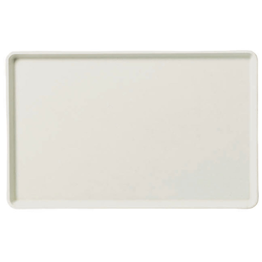 "Carlisle 1418LFG001 Rectangular Cafeteria Tray - Low-Edge, 18x14"" Bone White"