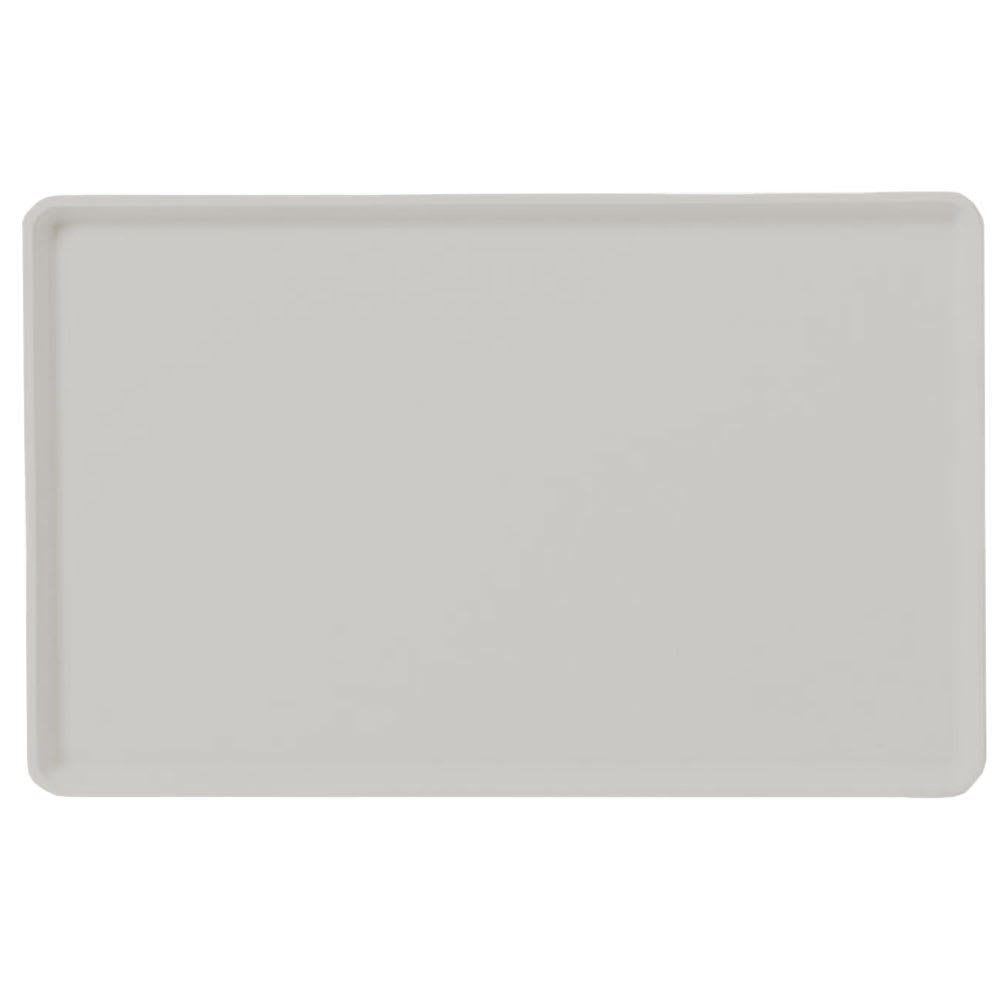 "Carlisle 1418LFG002 Rectangular Cafeteria Tray - Low-Edge, 18x14"" Smoke Gray"