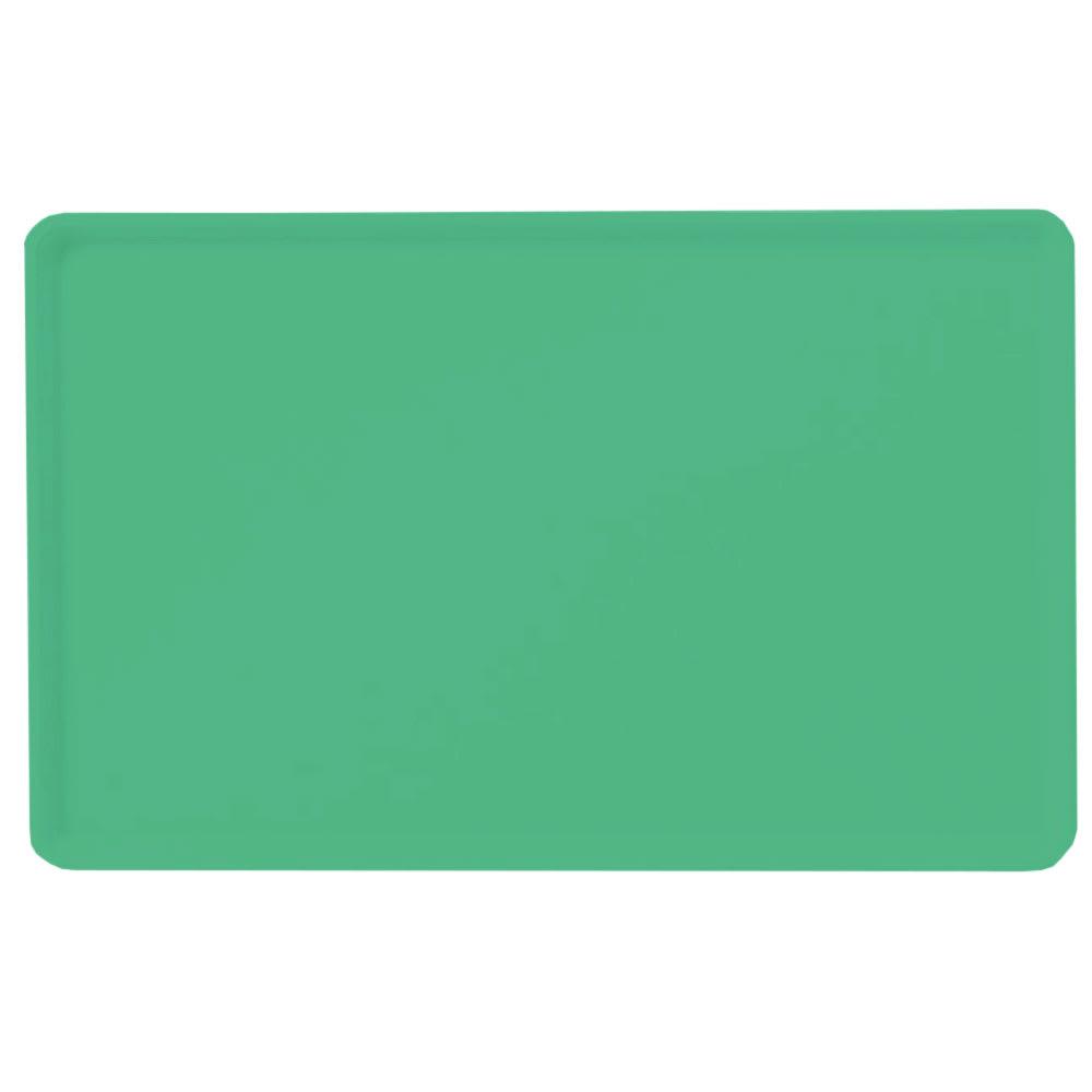 "Carlisle 1418LFG007 Rectangular Cafeteria Tray - Low-Edge, 18x14"" Tropical Green"
