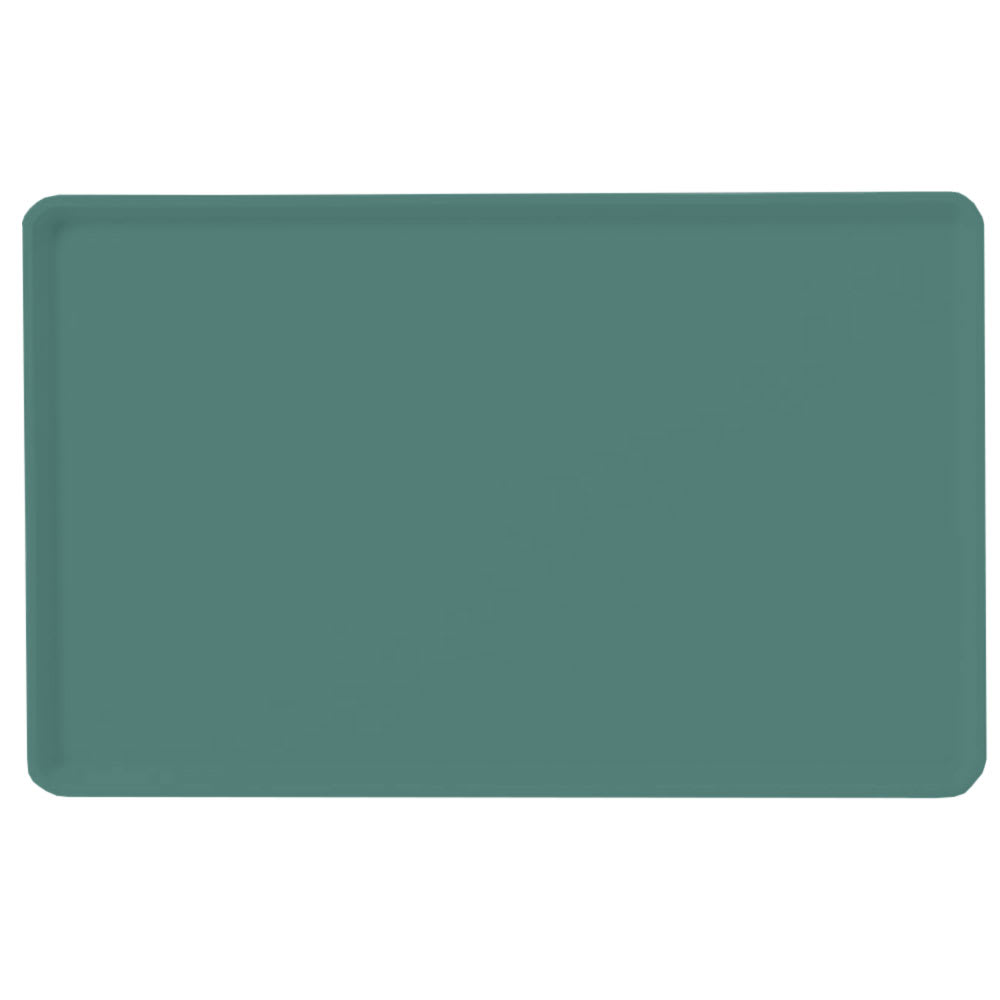 "Carlisle 1418LFG010 Rectangular Cafeteria Tray - Low-Edge, 18x14"" Forest Green"