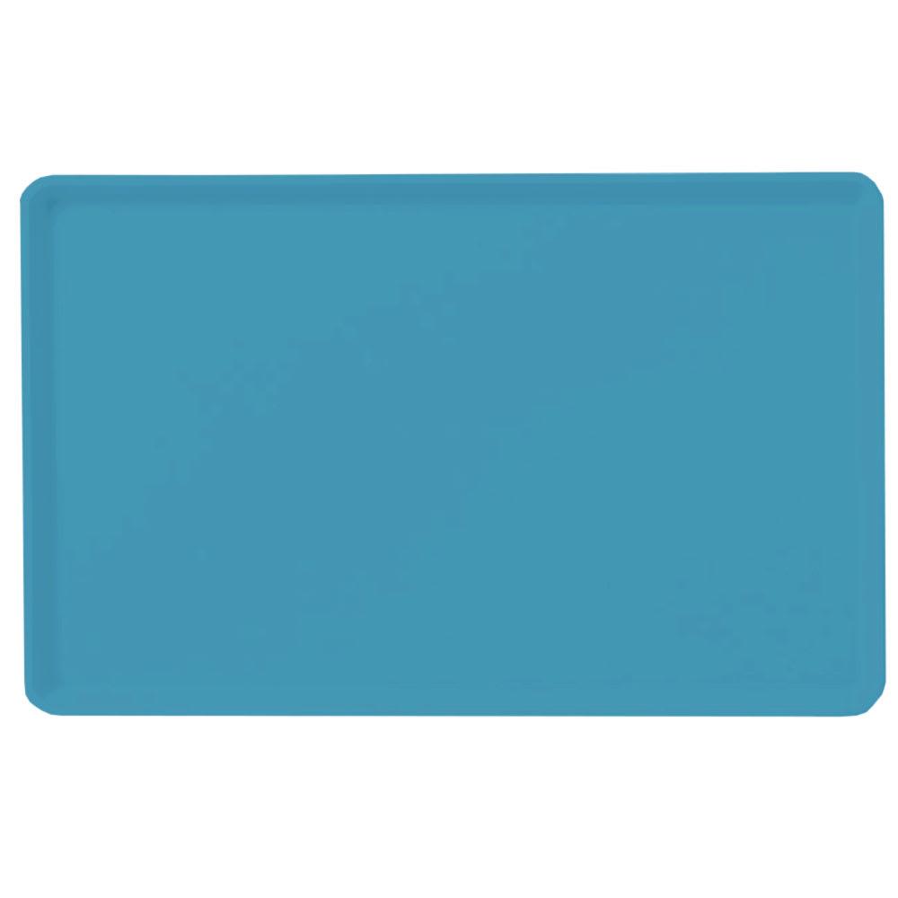 "Carlisle 1418LFG011 Rectangular Cafeteria Tray - Low-Edge, 18x14"" Turquoise"