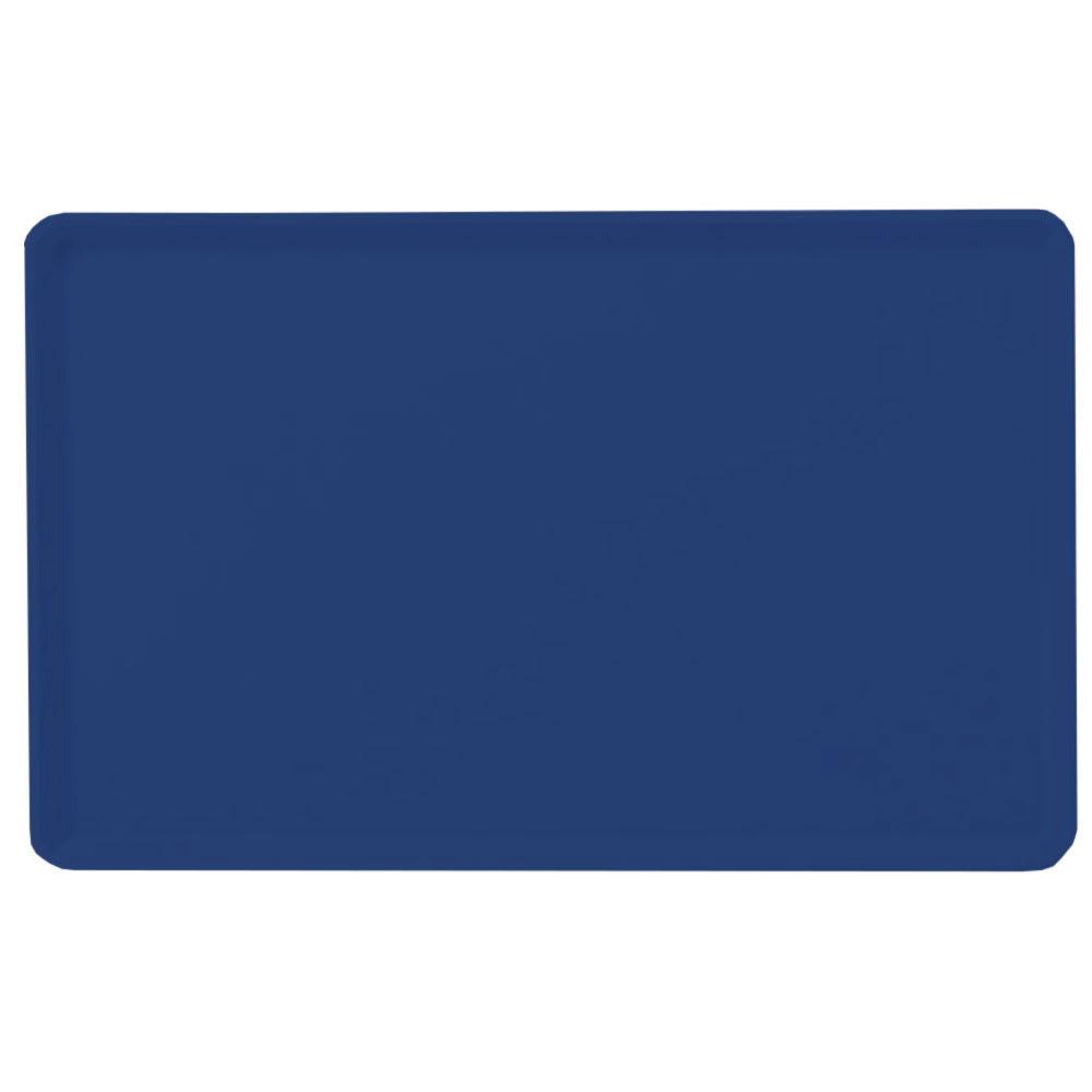 "Carlisle 1418LFG050 Rectangular Cafeteria Tray - Low-Edge, 18x14"" Sapphire Blue"