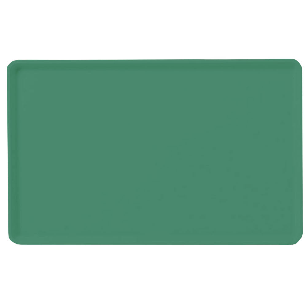 "Carlisle 1418LFG053 Rectangular Cafeteria Tray - Low-Edge, 18x14"" Jade"