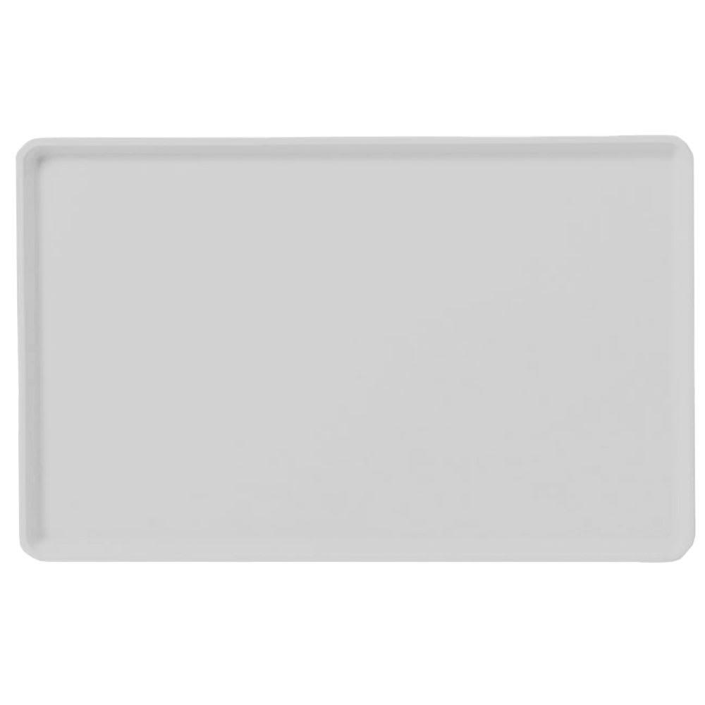 "Carlisle 1418LFG068 Rectangular Cafeteria Tray - Low-Edge, 18x14"" Gray"