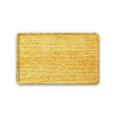 "Carlisle 1418LWFG065 Rectangular Cafeteria Tray - Low-Edge, 18x14"" Light Oak Woodgrain"