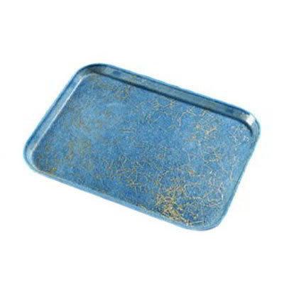 Carlisle 1419DFG029 Rectangular Cafeteria Tray - 38.5x50cm, Starfire Blue