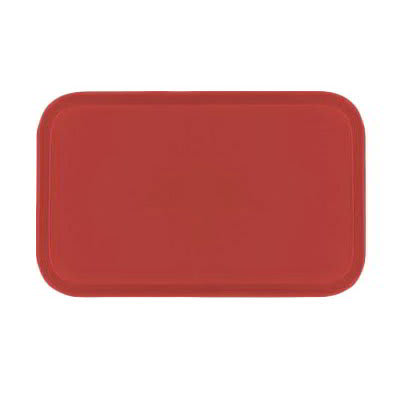Carlisle 1419FG020 Rectangular Cafeteria Tray - 38.5x50cm, Coral