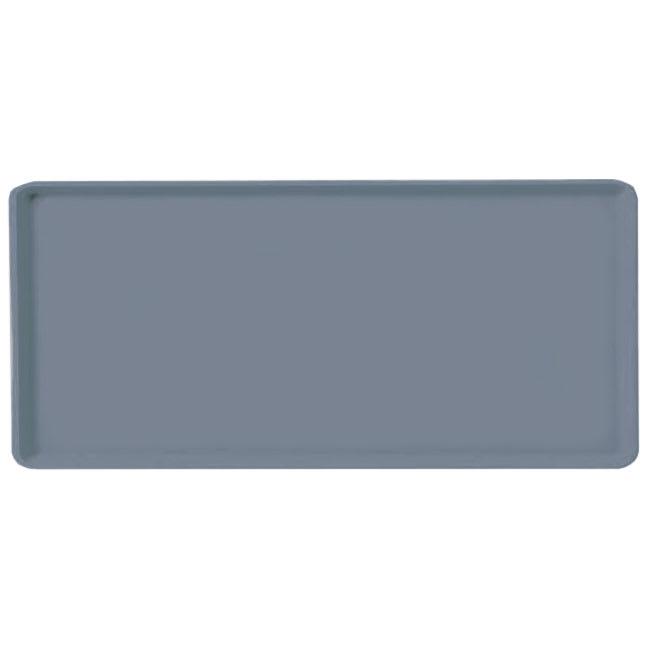 "Carlisle 1419FG067 Fiberglass Cafeteria Tray - 19.6""L x 15.1""W, Slate Blue"