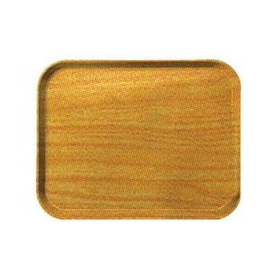 Carlisle 1419WFG065 Rectangular Cafeteria Tray - 38.5x50cm, Light Oak Woodgrain