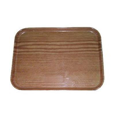 Carlisle 1419WFG094 Rectangular Cafeteria Tray - 38.5x50cm, Redwood Woodgrain