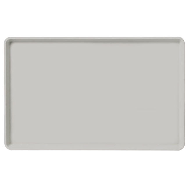 "Carlisle 1520LFG002 Rectangular Cafeteria Tray - Low-Edge, 20 1/4x15"" Smoke Gray"