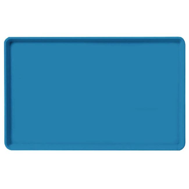 "Carlisle 1520LFG013 Rectangular Cafeteria Tray - Low-Edge, 20-1/4x15"" Ice Blue"