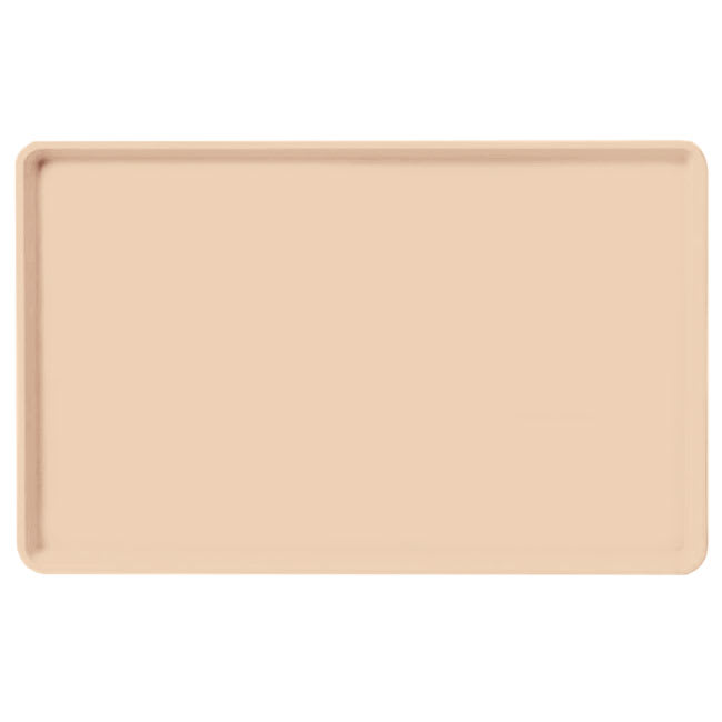 "Carlisle 1520LFG016 Rectangular Cafeteria Tray - Low-Edge, 20-1/4x15"" Peach"