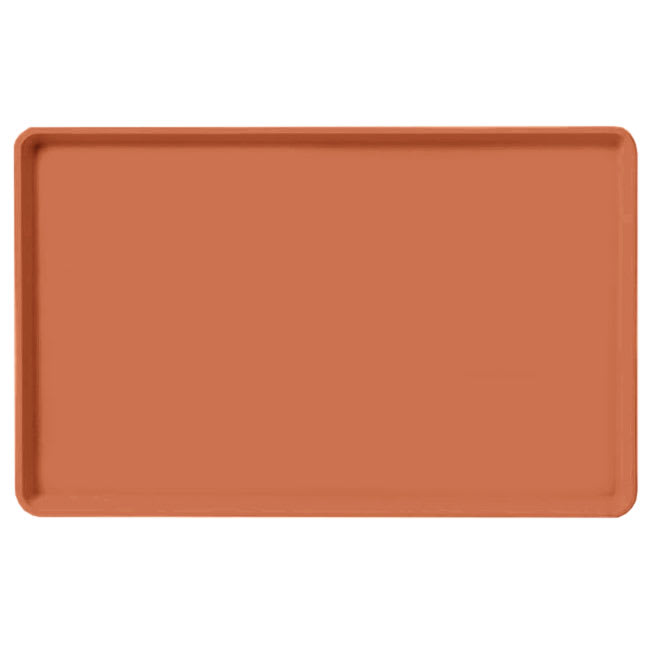 "Carlisle 1520LFG018 Rectangular Cafeteria Tray - Low-Edge, 20-1/4x15"" Orange"