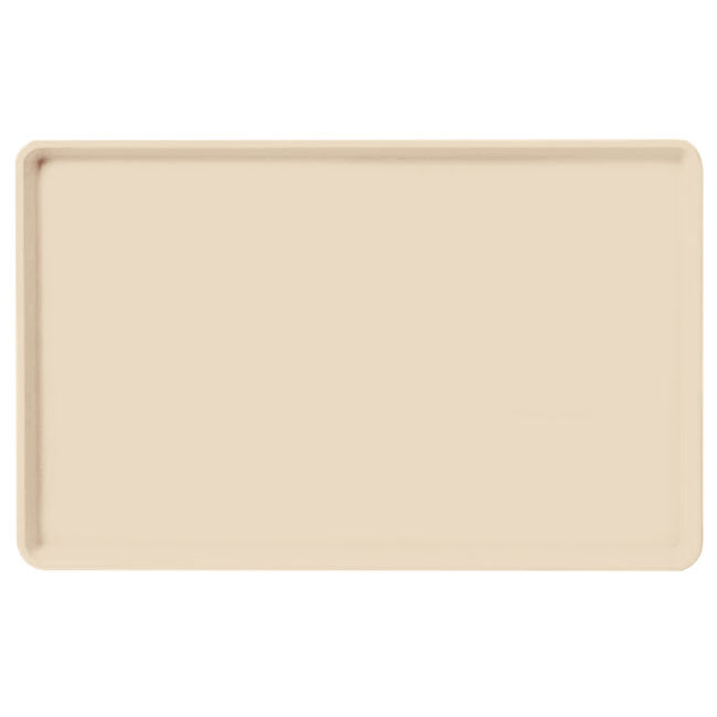 "Carlisle 1520LFG022 Rectangular Cafeteria Tray - Low-Edge, 20 1/4x15"" Ivory"