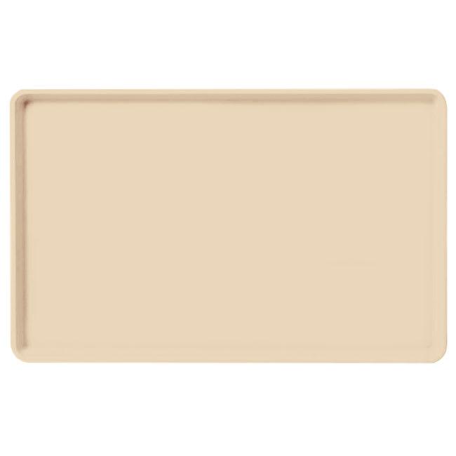 "Carlisle 1520LFG025 Rectangular Cafeteria Tray - Low-Edge, 20-1/4x15"" Beige"