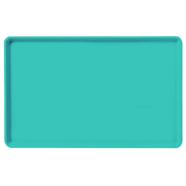 "Carlisle 1520LFG051 Rectangular Cafeteria Tray - Low-Edge, 20 1/4x15"" Teal"
