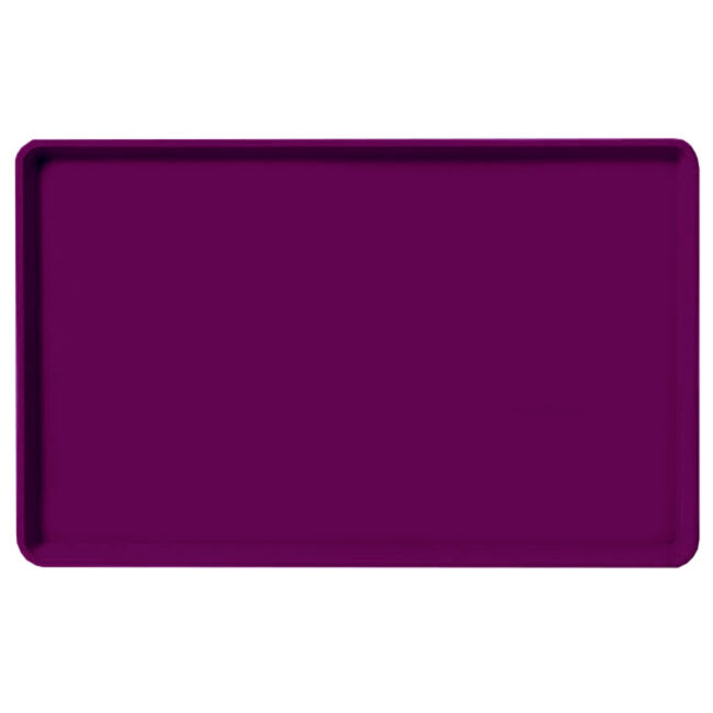 "Carlisle 1520LFG054 Rectangular Cafeteria Tray - Low-Edge, 20-1/4x15"" Mulberry"