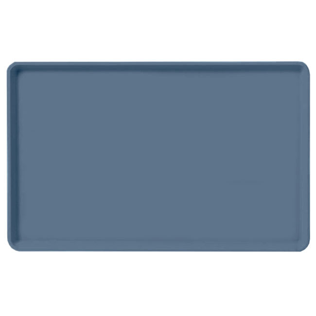 "Carlisle 1520LFG067 Rectangular Cafeteria Tray - Low-Edge, 20-1/4x15"" Slate Blue"