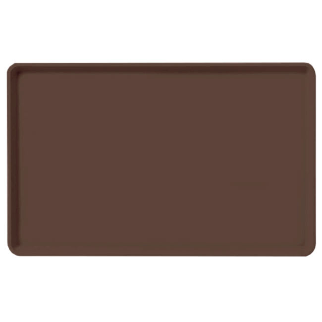 "Carlisle 1520LFG127 Rectangular Cafeteria Tray - Low-Edge, 20-1/4x15"" Chocolate"
