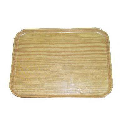 "Carlisle 1520LWFG065 Rectangular Cafeteria Tray - Low-Edge, 20 1/4x15"" Light Oak Woodgrain"