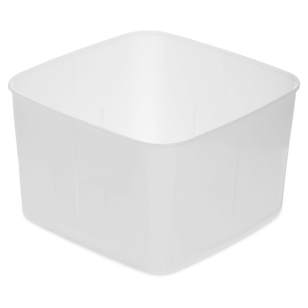 Carlisle 153202 2 qt Square Food Storage Container - White