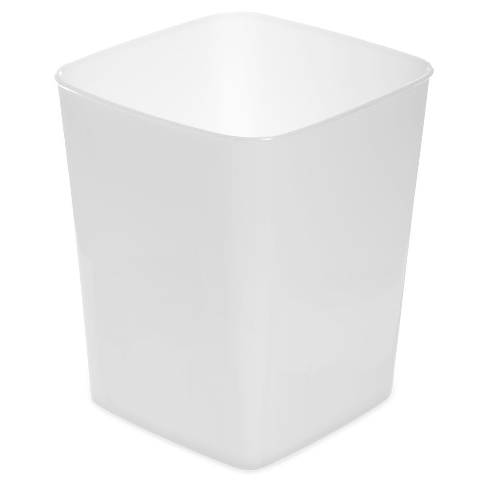 Carlisle 154402 4 qt Square Food Storage Container - White