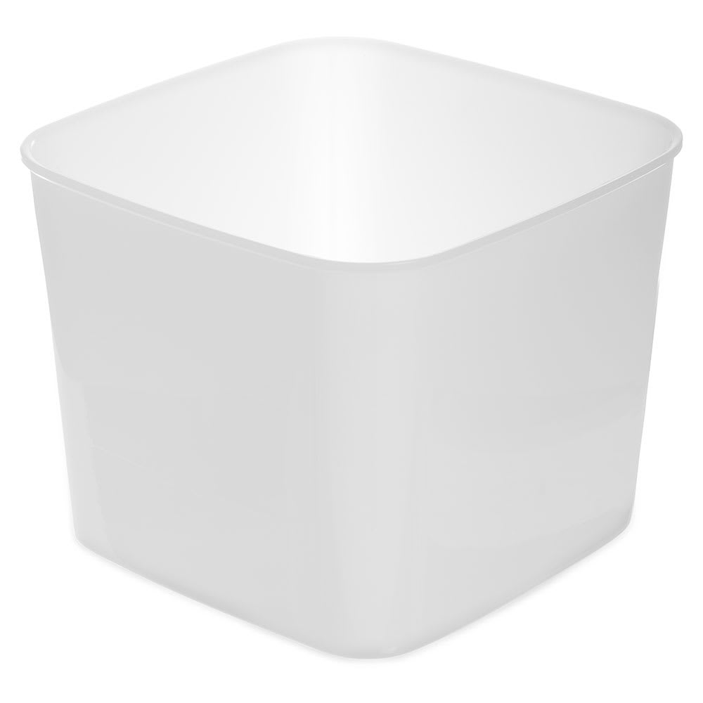 Carlisle 155602 6-qt Square Food Storage Container - White