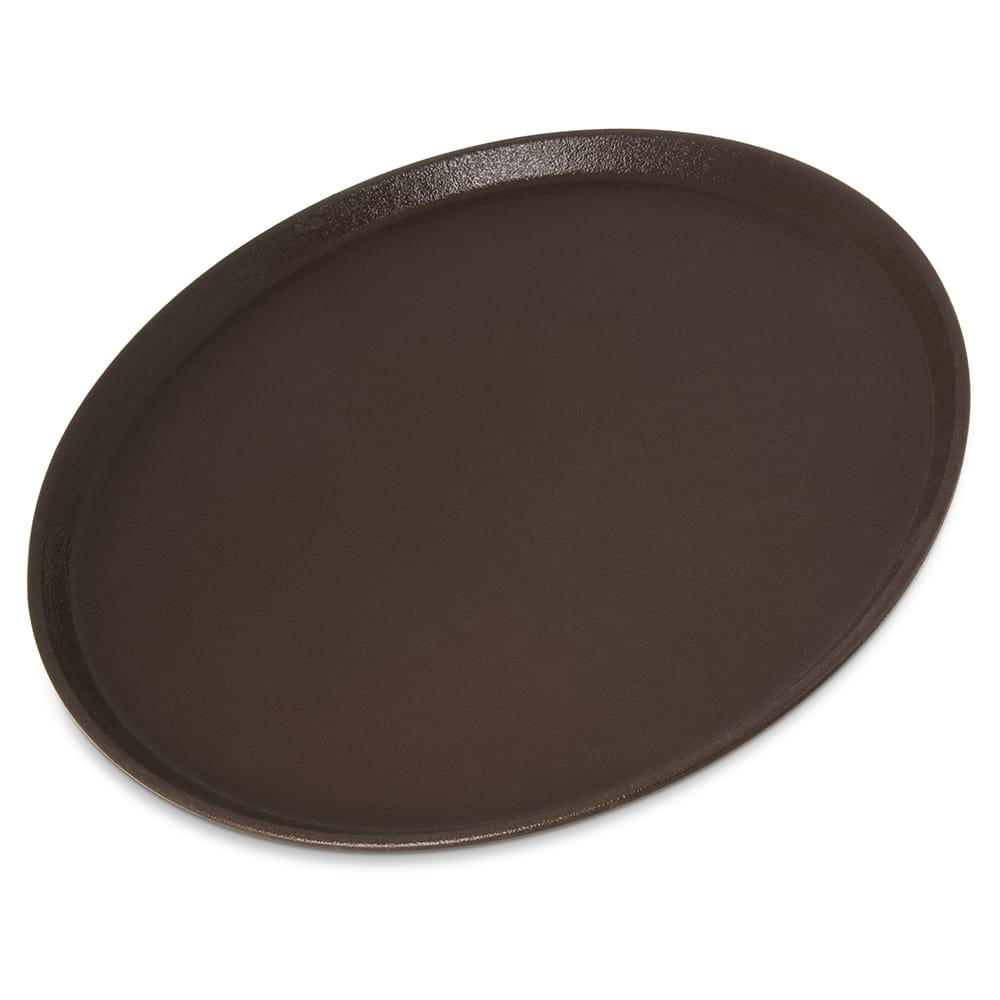 "Carlisle 1600GR2076 16"" Round Griptite™ 2 Serving Tray, Brown"