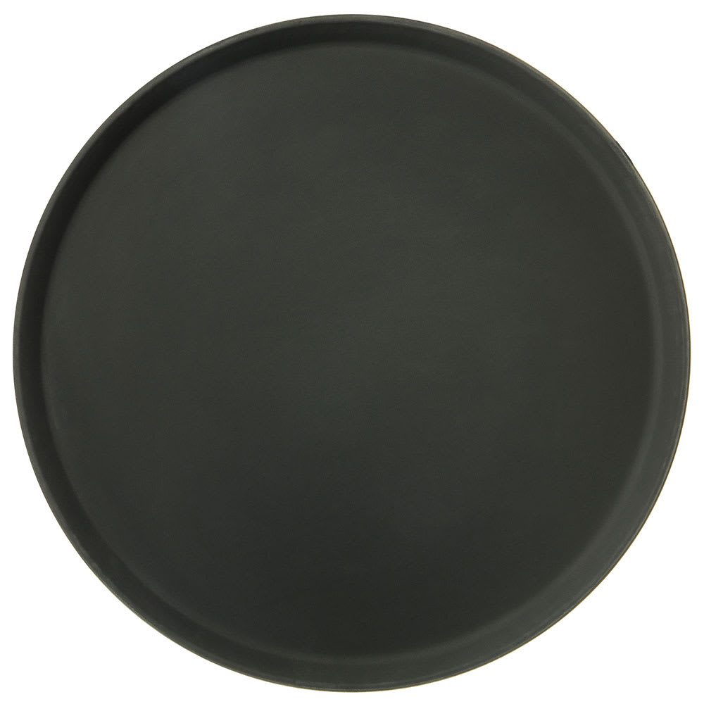 "Carlisle 1600GR2004 16"" Round Serving Tray - Black"