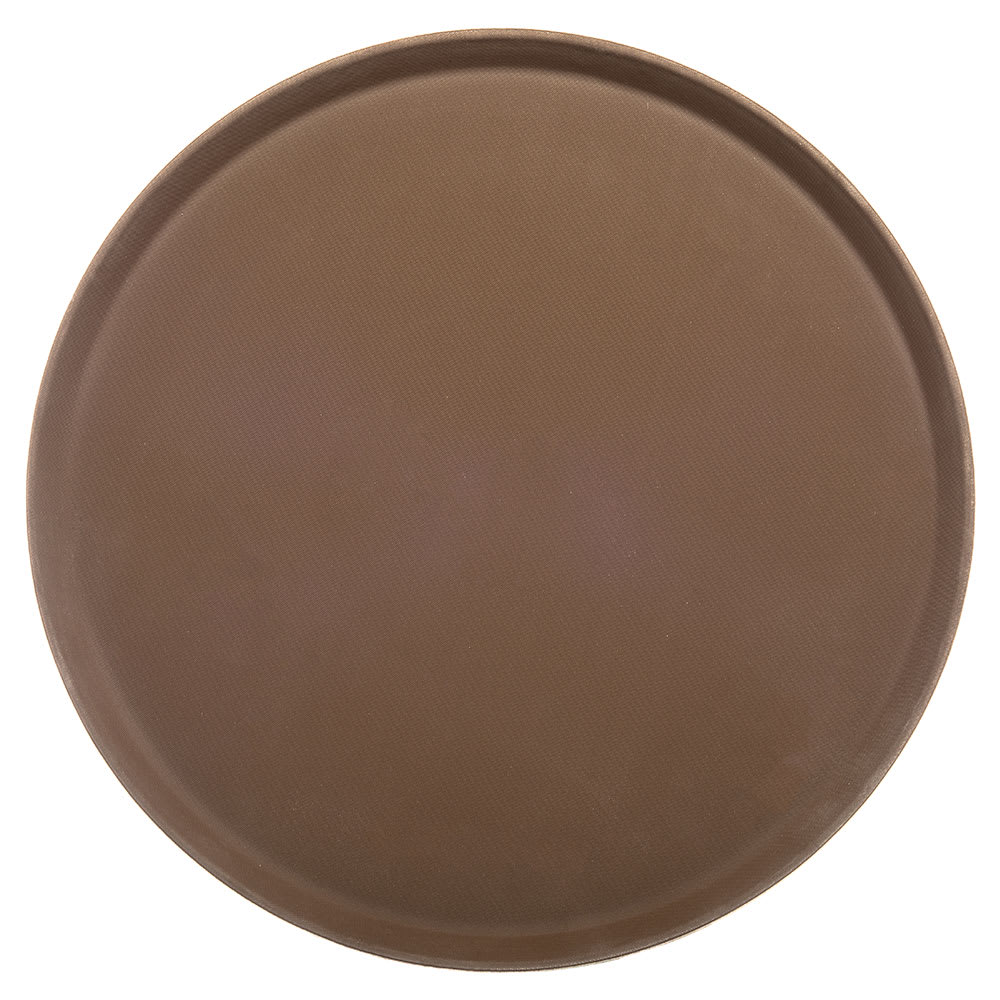 "Carlisle 1600GR076 16"" Round Serving Tray - Tan"