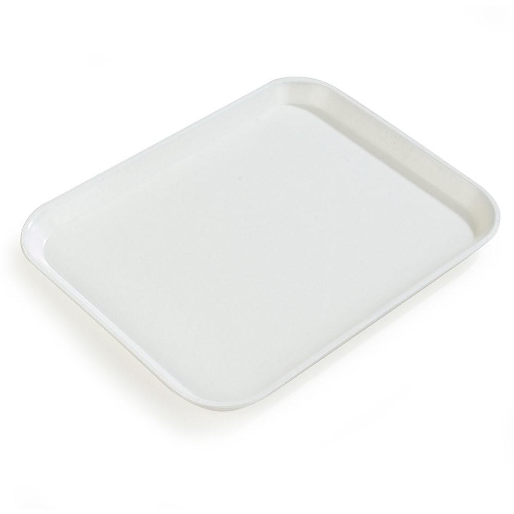 "Carlisle 1612FG001 Rectangular Cafeteria Tray - 16-3/8x12"" Bone White"