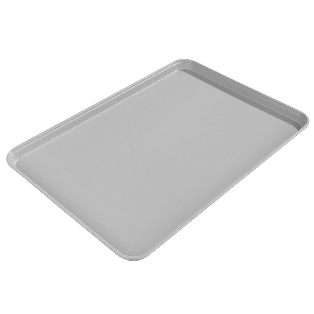 "Carlisle 1612FG002 Rectangular Cafeteria Tray - 16-3/8x12"" Smoke Gray"