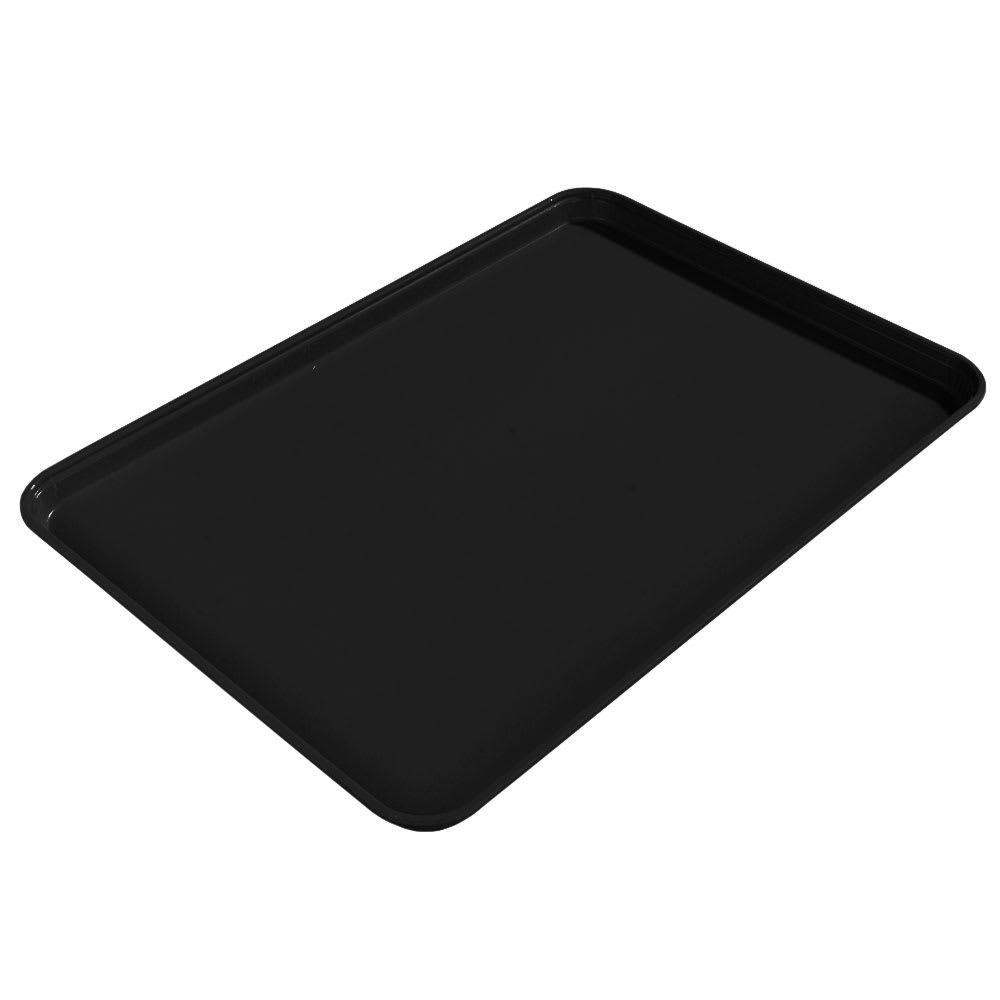 "Carlisle 1612FG004 Rectangular Cafeteria Tray - 16 3/8x12"" Black"