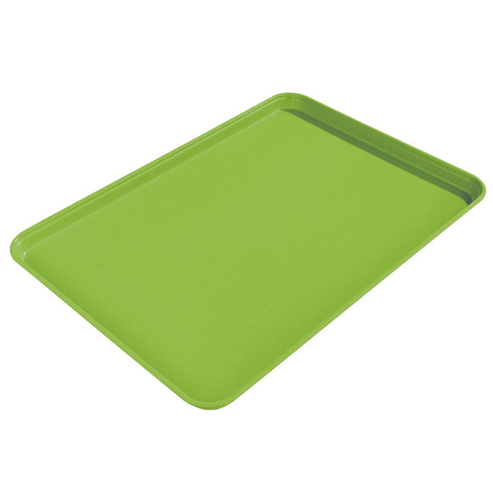 "Carlisle 1612FG009 Rectangular Cafeteria Tray - 16 3/8x12"" Lime"
