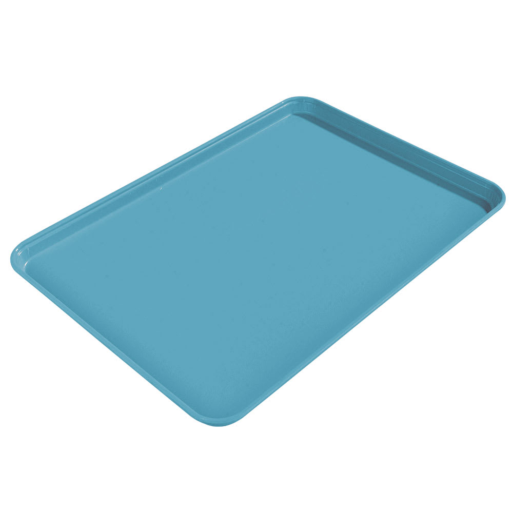 "Carlisle 1612FG011 Rectangular Cafeteria Tray - 16-3/8x12"" Turquoise"