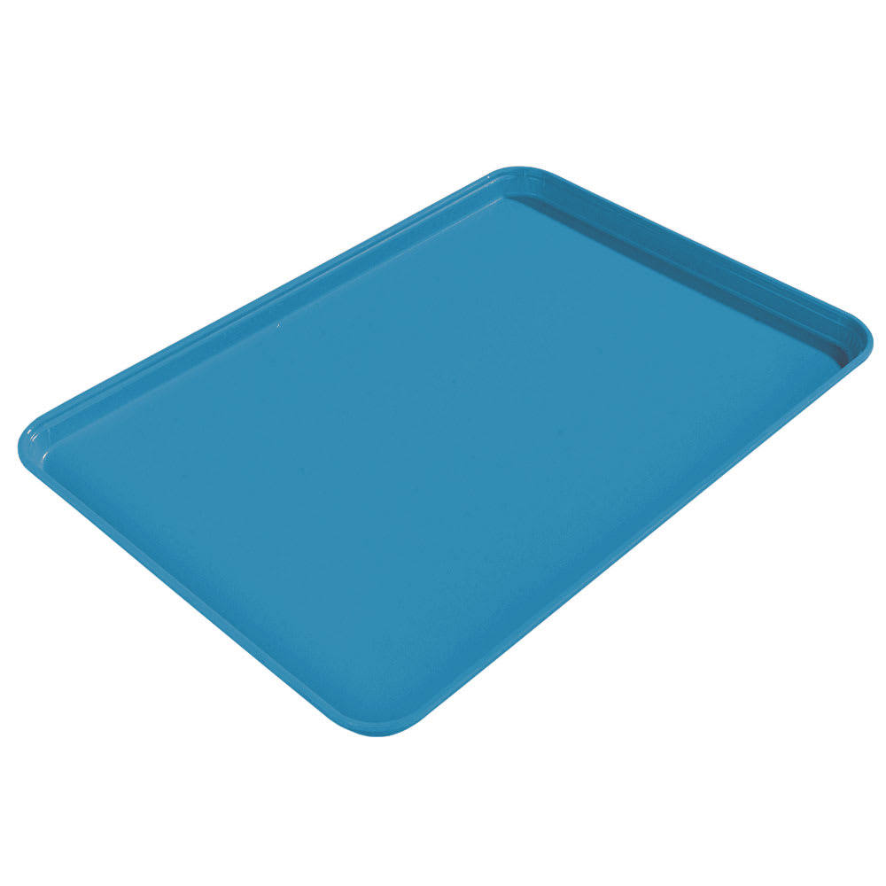 "Carlisle 1612FG013 Rectangular Cafeteria Tray - 16-3/8x12"" Ice Blue"