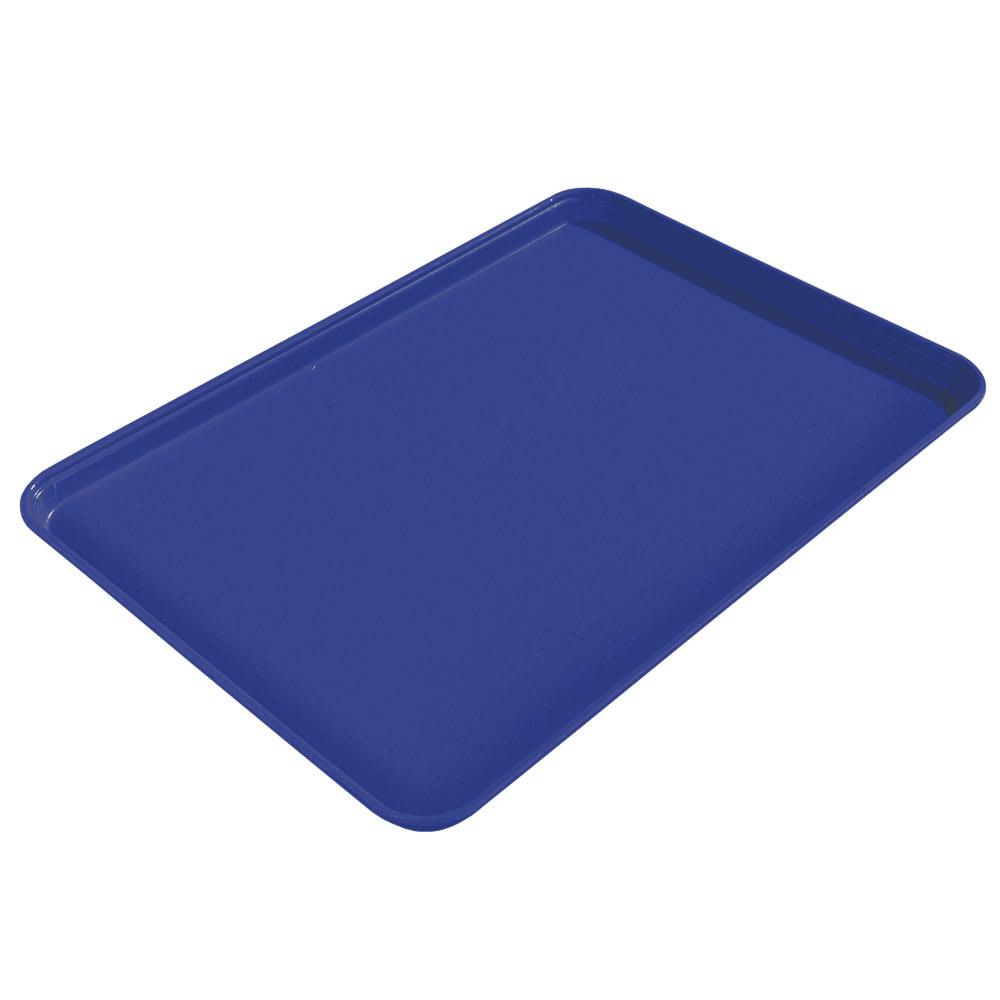 """Carlisle 1612FG014 Rectangular Cafeteria Tray - 16 3/8x12"""" Cobalt Blue"""