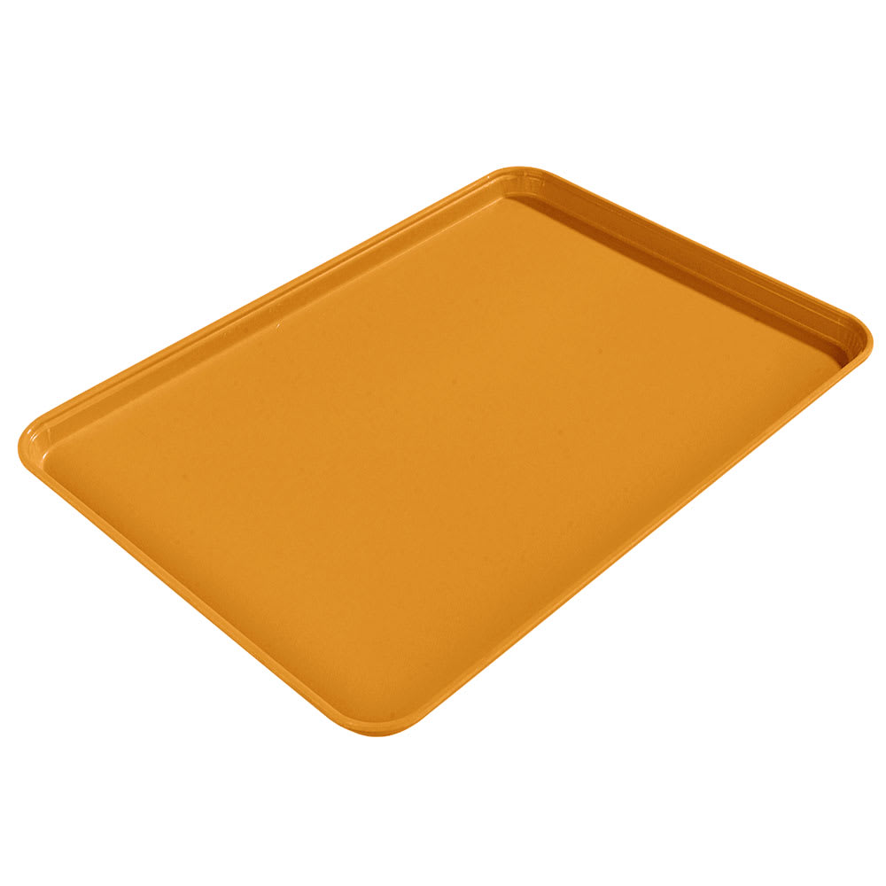 "Carlisle 1612FG019 Rectangular Cafeteria Tray - 16-3/8x12"" Rust"