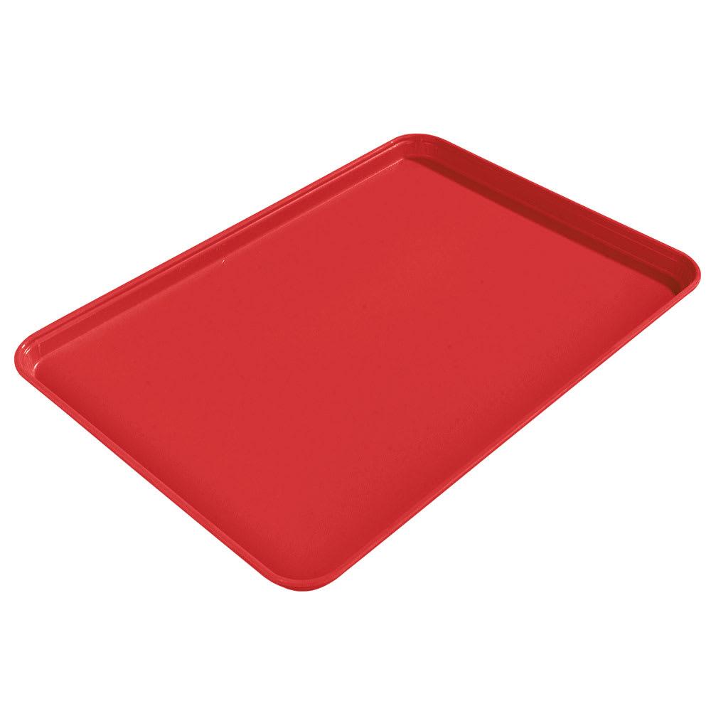 "Carlisle 1612FG020 Rectangular Cafeteria Tray - 16-3/8x12"" Coral"