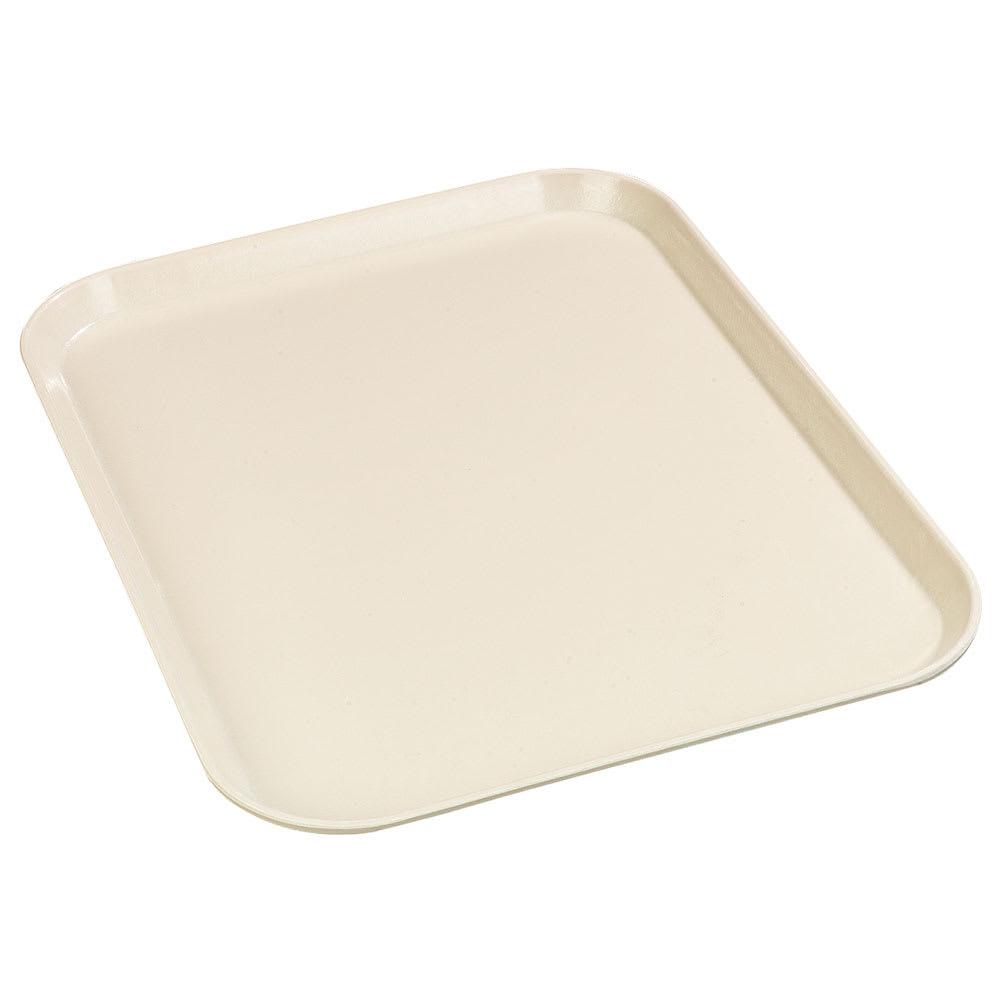"Carlisle 1612FG022 Rectangular Cafeteria Tray - 16-3/8x12"" Ivory"