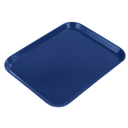 "Carlisle 1612FG051 Rectangular Cafeteria Tray - 16-3/8x12"" Teal"