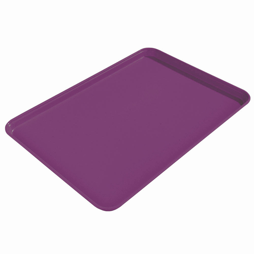 "Carlisle 1612FG054 Rectangular Cafeteria Tray - 16-3/8x12"" Mulberry"