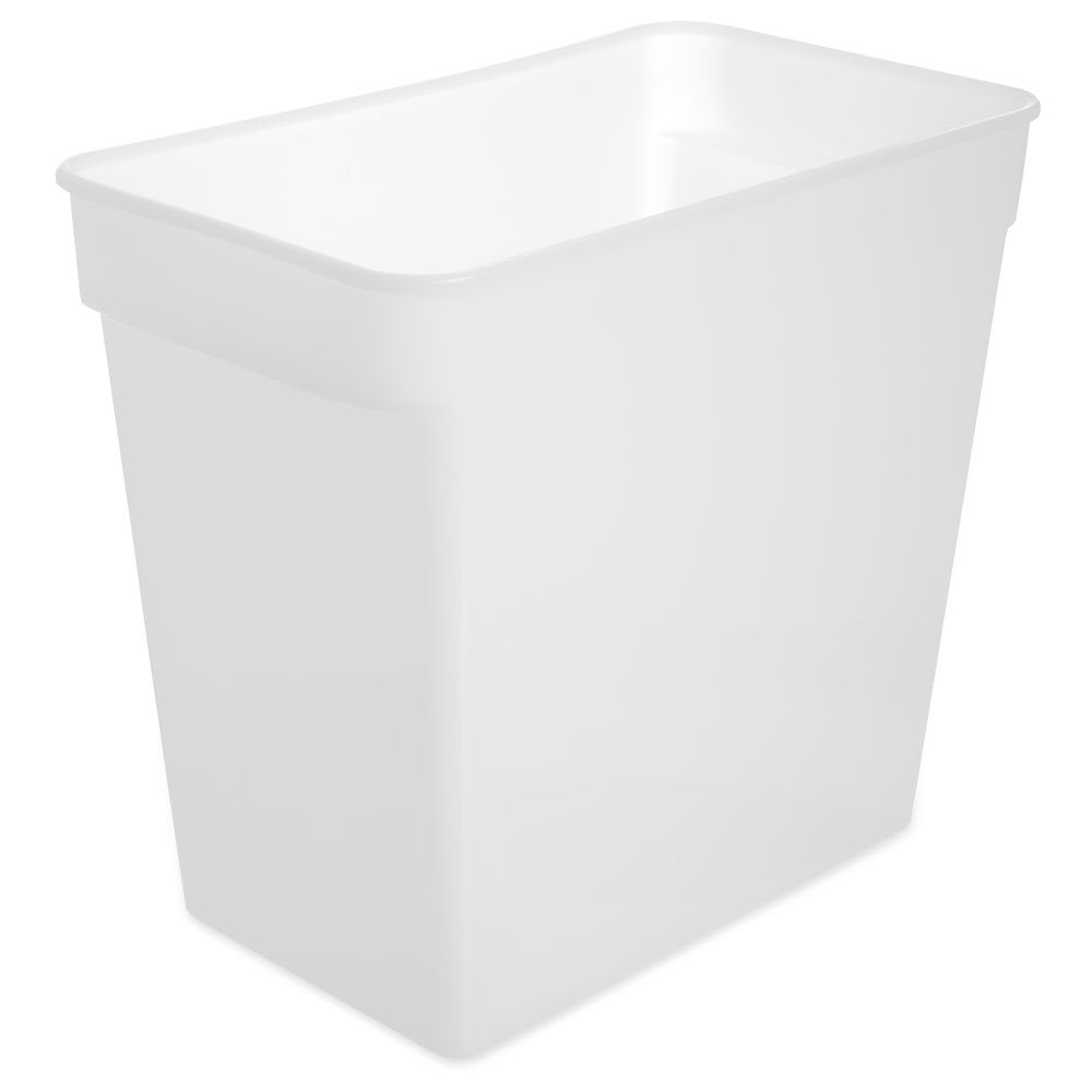 Carlisle 162902 18 qt Square Food Storage Container - White