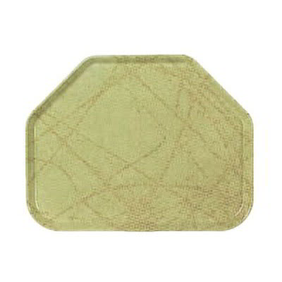 "Carlisle 1713DFG030 Trapezoid Cafeteria Tray - 18x14"" Starfire Natural"